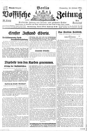 Vossische Zeitung vom 26.02.1925
