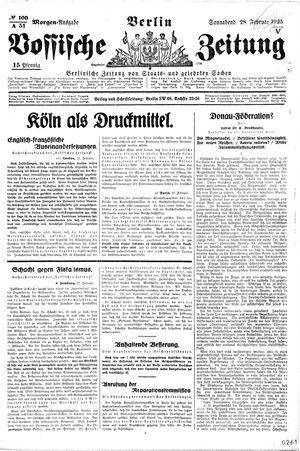 Vossische Zeitung on Feb 28, 1925