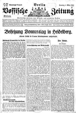 Vossische Zeitung vom 01.03.1925