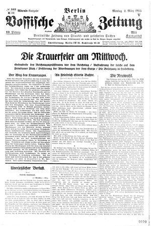 Vossische Zeitung vom 02.03.1925