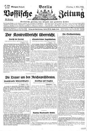 Vossische Zeitung vom 03.03.1925