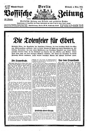 Vossische Zeitung on Mar 4, 1925