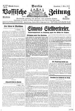 Vossische Zeitung vom 07.03.1925
