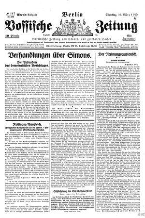 Vossische Zeitung vom 10.03.1925