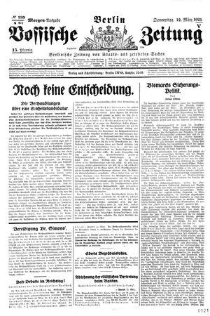Vossische Zeitung vom 12.03.1925