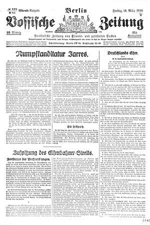 Vossische Zeitung vom 13.03.1925