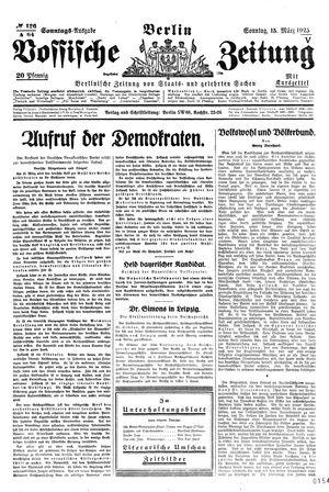 Vossische Zeitung vom 15.03.1925