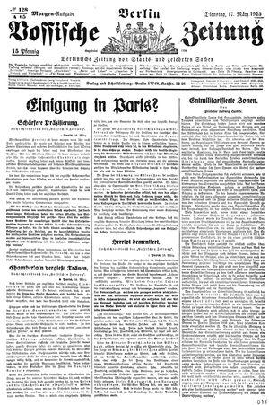 Vossische Zeitung on Mar 17, 1925