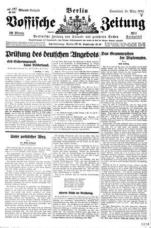 Vossische Zeitung on Mar 21, 1925