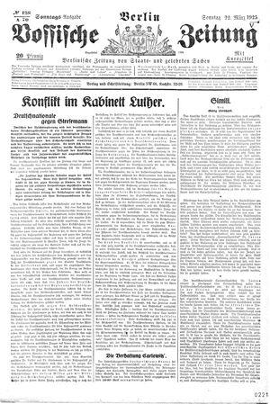 Vossische Zeitung vom 22.03.1925
