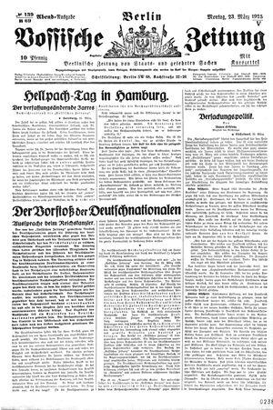 Vossische Zeitung vom 23.03.1925