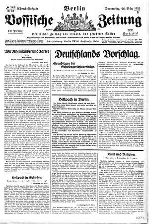 Vossische Zeitung vom 26.03.1925