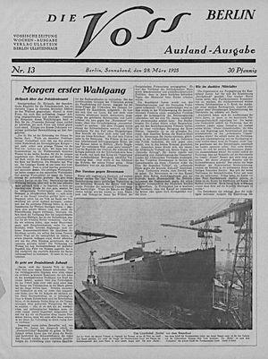 Vossische Zeitung vom 28.03.1925