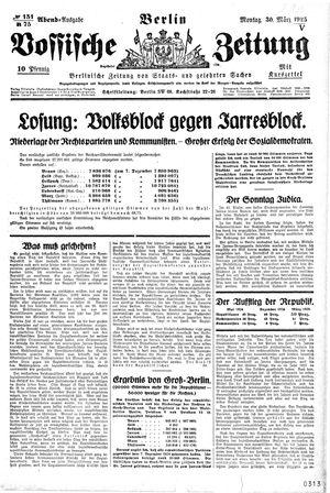 Vossische Zeitung vom 30.03.1925