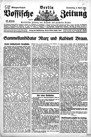 Vossische Zeitung vom 02.04.1925
