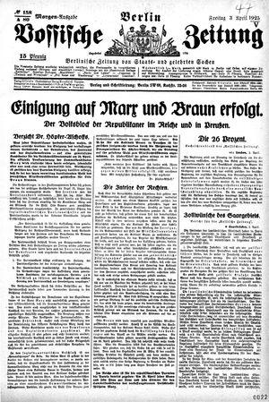 Vossische Zeitung vom 03.04.1925