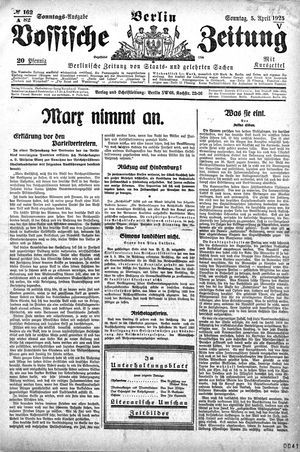 Vossische Zeitung on Apr 5, 1925