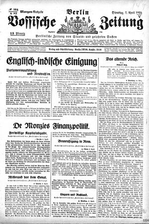 Vossische Zeitung vom 07.04.1925