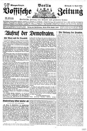 Vossische Zeitung on Apr 8, 1925
