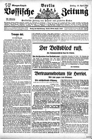 Vossische Zeitung vom 10.04.1925