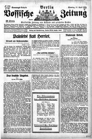 Vossische Zeitung vom 12.04.1925