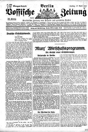 Vossische Zeitung on Apr 17, 1925