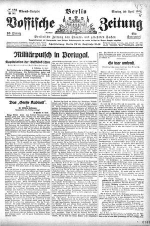 Vossische Zeitung vom 20.04.1925