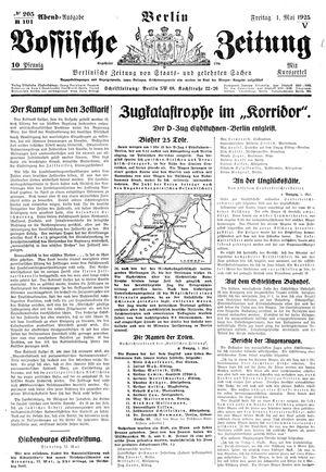 Vossische Zeitung vom 01.05.1925