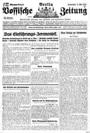 Vossische Zeitung vom 02.05.1925