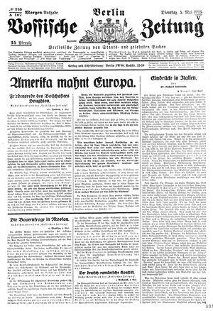 Vossische Zeitung vom 05.05.1925