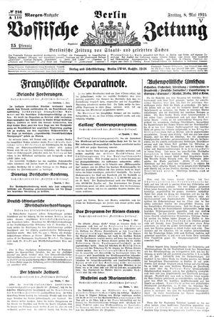 Vossische Zeitung vom 08.05.1925