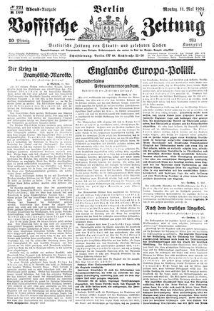 Vossische Zeitung vom 11.05.1925