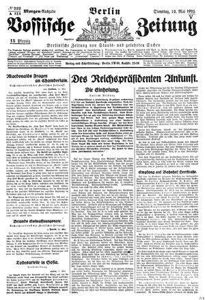 Vossische Zeitung vom 12.05.1925