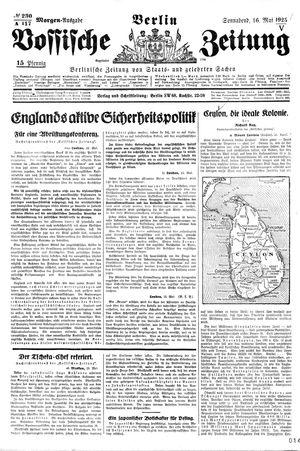 Vossische Zeitung vom 16.05.1925