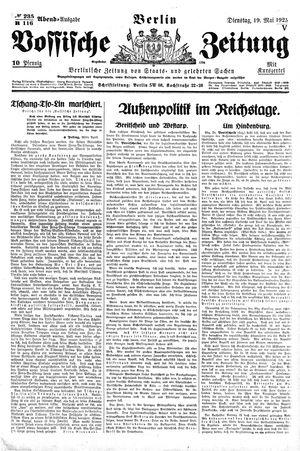 Vossische Zeitung vom 19.05.1925