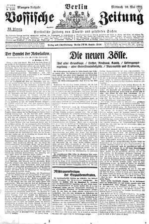 Vossische Zeitung on May 20, 1925