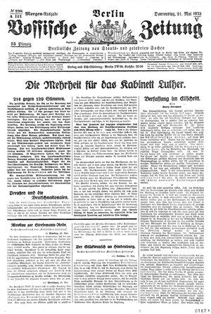 Vossische Zeitung vom 21.05.1925