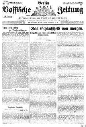 Vossische Zeitung vom 27.06.1925