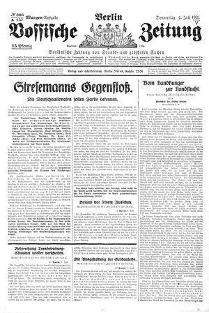 Vossische Zeitung vom 02.07.1925
