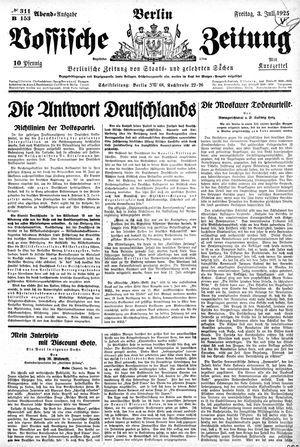 Vossische Zeitung vom 03.07.1925