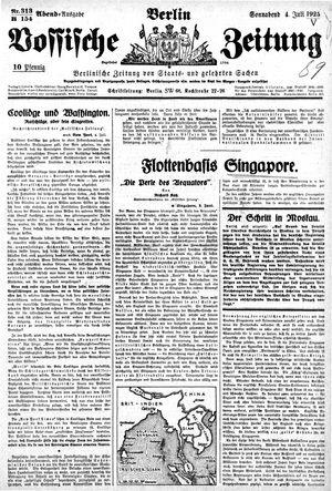 Vossische Zeitung vom 04.07.1925
