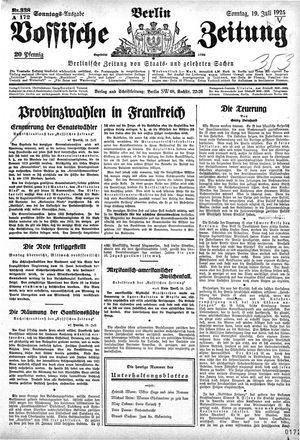 Vossische Zeitung vom 19.07.1925