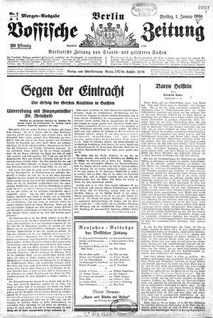 Vossische Zeitung vom 01.01.1926