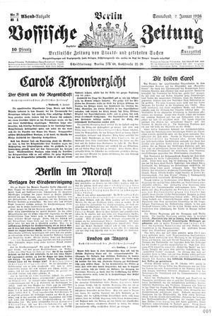Vossische Zeitung vom 02.01.1926