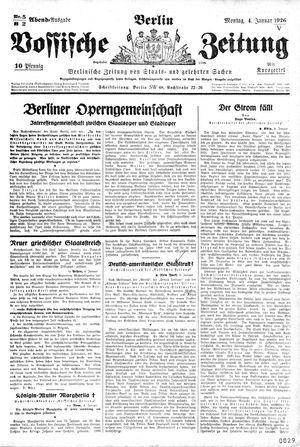 Vossische Zeitung vom 04.01.1926