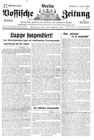 Vossische Zeitung vom 05.01.1926