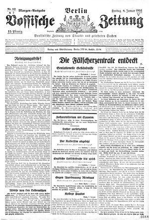Vossische Zeitung vom 08.01.1926