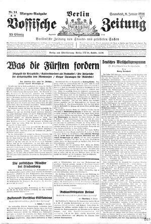 Vossische Zeitung vom 09.01.1926