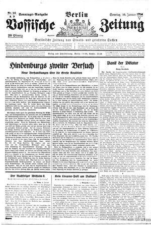 Vossische Zeitung vom 10.01.1926