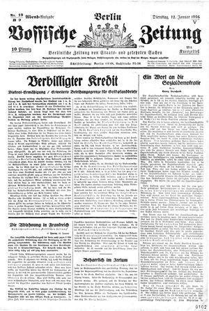 Vossische Zeitung vom 12.01.1926